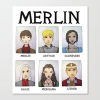 merlin Canvas Prints featuring MERLIN by Space Bat designs