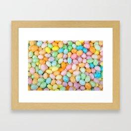 Happy Easter Speckled Jelly Beans Framed Art Print