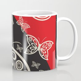 Pattern with butterflies and flowers Coffee Mug