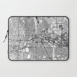 Minneapolis White Map Laptop Sleeve