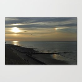 Cromer's setting sun and Sundog Canvas Print