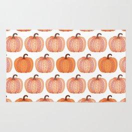 Patterned Pumpkin Rug