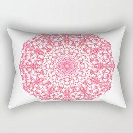 Mandala 12 / 4 eden spirit ruby red Rectangular Pillow