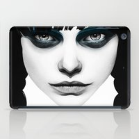 hair iPad Cases featuring Wakeful Warrior - In Blue by Ruben Ireland
