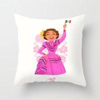 mexico Throw Pillows featuring Mexico  by Melissa Ballesteros Parada