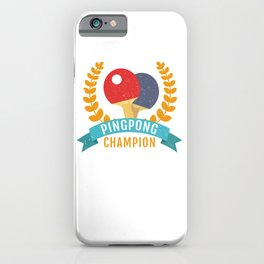 Table Tennis Ping Pong Champion Vintage Table Sports iPhone Case