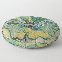Van Gogh, Giant Peacock Moth, 1889 Floor Pillow