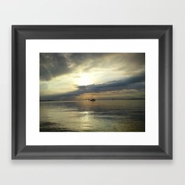 The Lonely Ship Framed Art Print