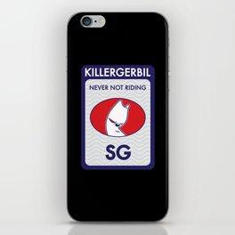 Killer Gerbil Tubing Blue iPhone Skin
