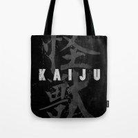 kaiju Tote Bags featuring KAIJU by Mikio Murakami