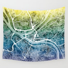 Pittsburgh Pennsylvania Street Map Wall Tapestry