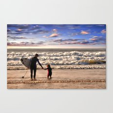 Early Surfer Canvas Print