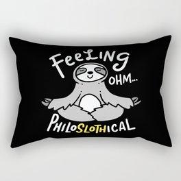 Yoga Design: Philoslothical Sloth Rectangular Pillow