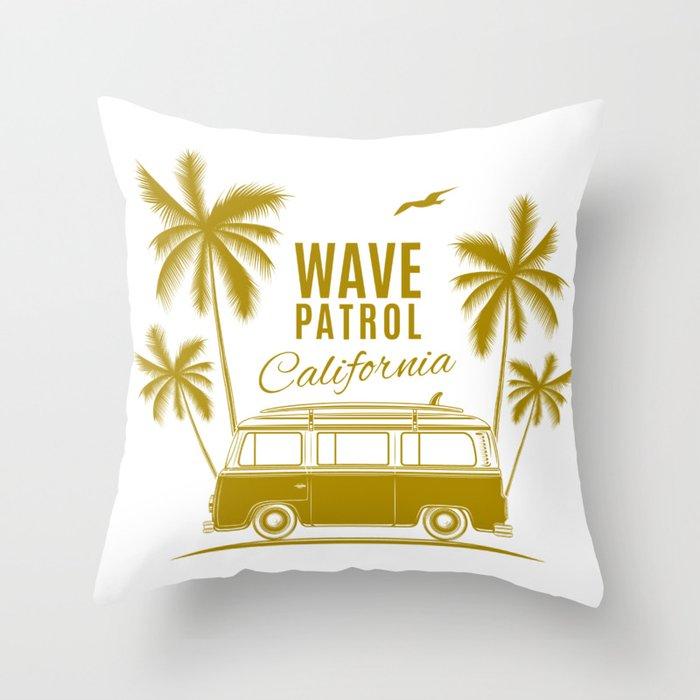 Wave Patrol California Throw Pillow