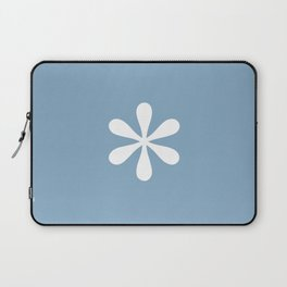 asterisk sign on placid blue color background Laptop Sleeve