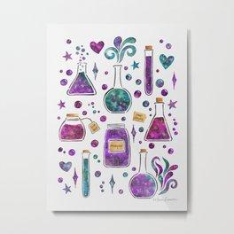 Galaxy Potions - Purple Palette Metal Print