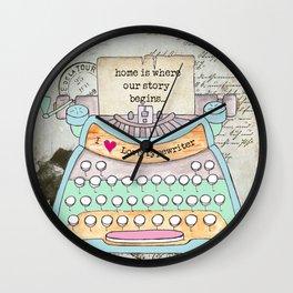 Typewriter #4 Wall Clock