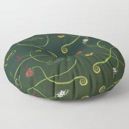 NZ Foliage Floor Pillow