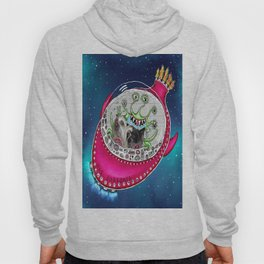 Chinese Crested Hairless Dogs in Space  Hoody