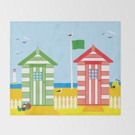 BEACH HUT Throw Blanket