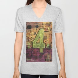 Journey by Number: 4 Repeated Unisex V-Neck