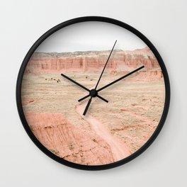 Desert Road Wall Clock