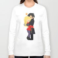 captain hook Long Sleeve T-shirts featuring OUAT - Hook and Emma by Choco-Minto