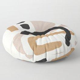Abstract shapes art, Mid century modern art Floor Pillow