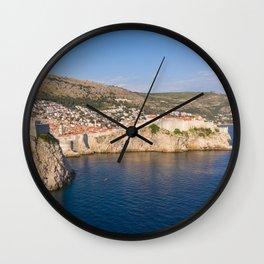 Dubrovnik fortified walls Wall Clock