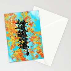 Seven Witches on a Broom.  Stationery Cards