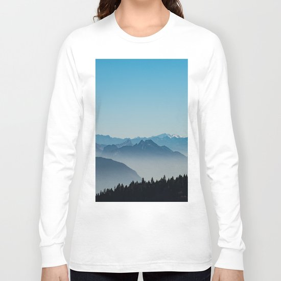 Blue Valley #mountains II Long Sleeve T-shirt