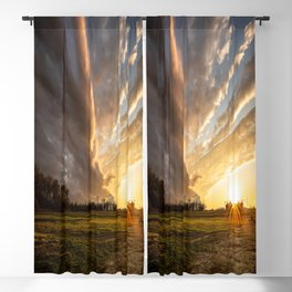 Mississippi Delta - Sunset Over a Farm After Stormy Day in Southeast Blackout Curtain
