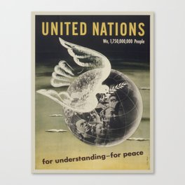 Vintage poster - United Nations Canvas Print