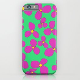 Three-leaf flower pattern lily iPhone Case