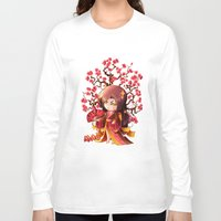 sakura Long Sleeve T-shirts featuring Sakura by Asura Art