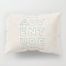 Adventure is Calling Mosaic – Cream Palette Pillow Sham