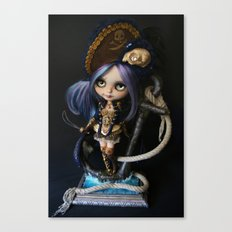 LADY BUCCANEER PIRATE OOAK BLYTHE ART DOLL Canvas Print