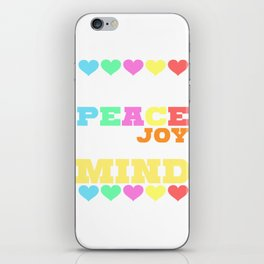 Spread the Love with this Peace of mind Tshirt Design Give me all the peace iPhone Skin