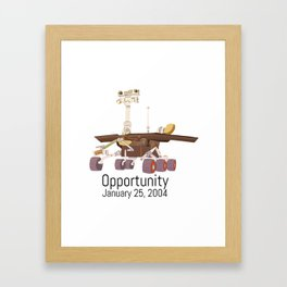 Opportunity Rover Framed Art Print