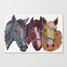 Horse Triptych #2 Canvas Print