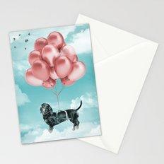 Dachshund Drift Stationery Cards