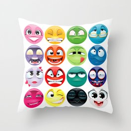 Group of expression.  Throw Pillow