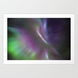 Aurora explosion Art Print