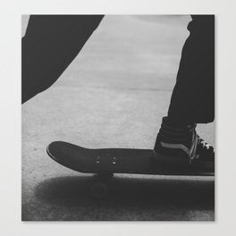 Vans on a Skate Canvas Print