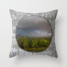 Approaching storm over Australian Landscape Throw Pillow