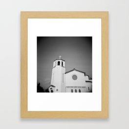Church on Holga Framed Art Print