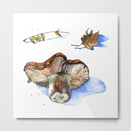 Watercolor nature collection. Metal Print