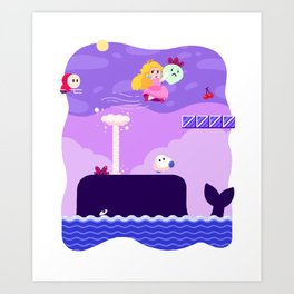 Tiny Worlds - Super Mario Bros. 2: Peach Art Print