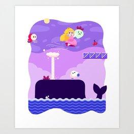 Tiny Worlds - Super Mario Bros. 2: Peach Art Print
