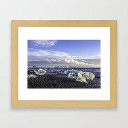 Jokulsarlon Lagoon Beach 05 Framed Art Print